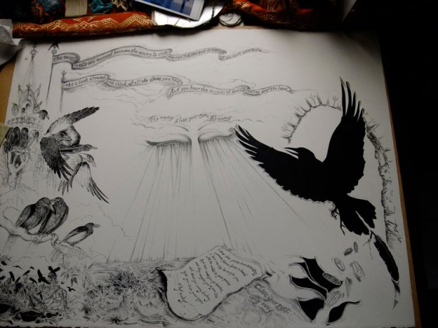 Fly Away in process