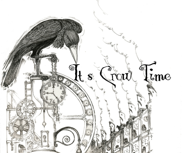 """It's Crow Time"" illustration by Mo Crow (aka Mo Orkiszewski"