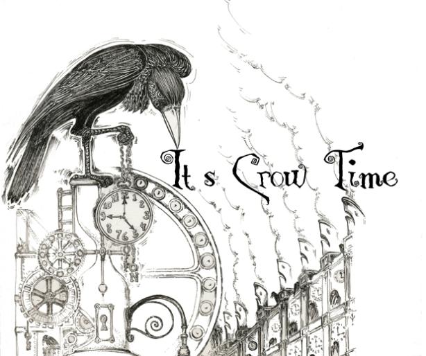 """""""It's Crow Time"""" illustration by Mo Crow (aka Mo Orkiszewski"""