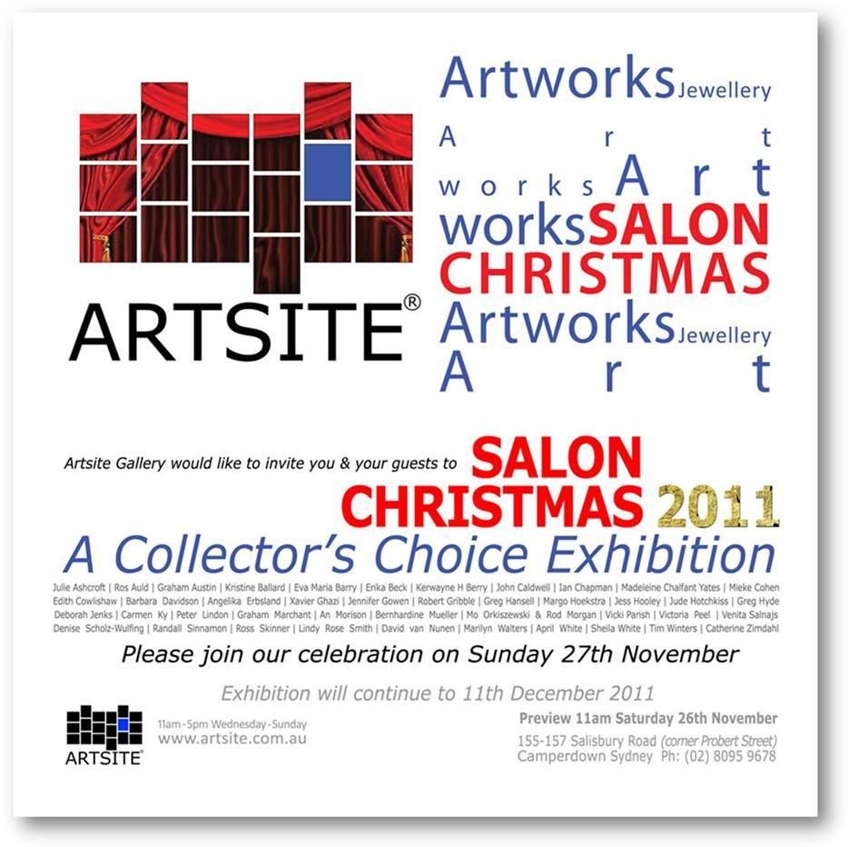 Artsite gallerys salon christmas the letter x is for xroads artsite gallery salon christmas invitation stopboris Choice Image