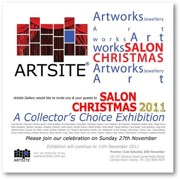Artsite Gallery Salon Christmas invitation