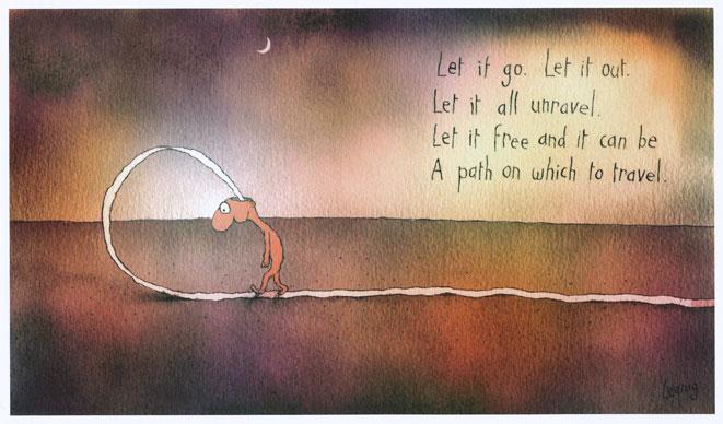 Let it go by Michael Leunig