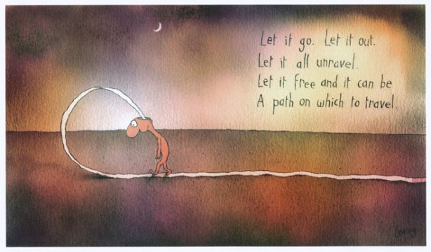 Let it go by Michael Leunig