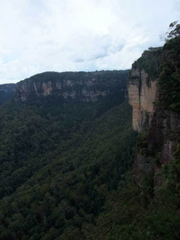 view of Echo Point from the top of the Giant Stairway