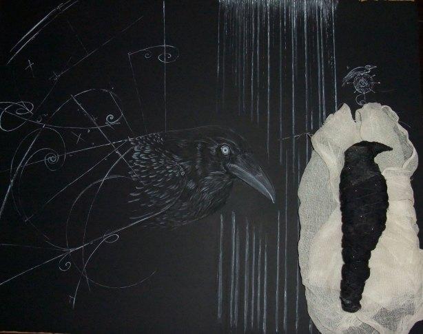 Beauty meets a Mytho-Poetic Crow by GlenSkien