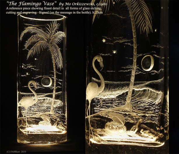 The Flamingo Vase by Mo Orkiszewski 1987
