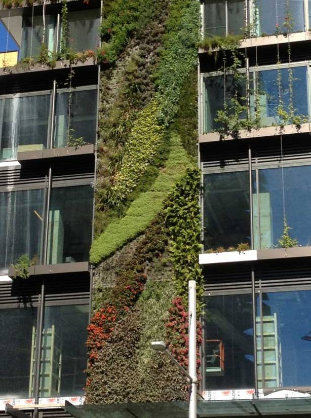 Central Park vertical gardens detail