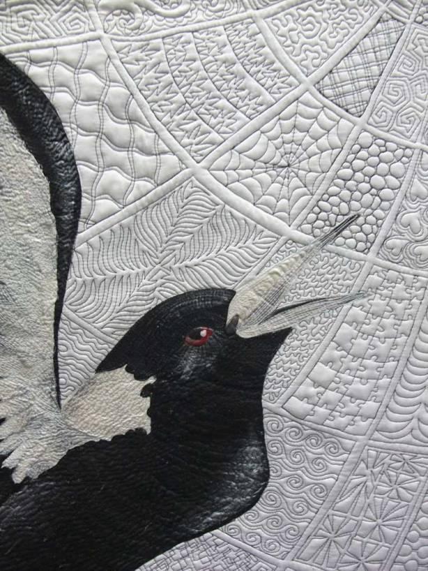 Helen Godden Zen Magpies detail