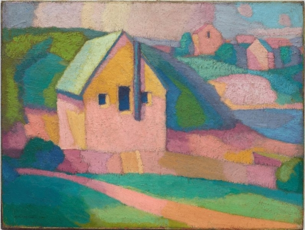 Synchromy in orange 1919 by Roland Wakelin