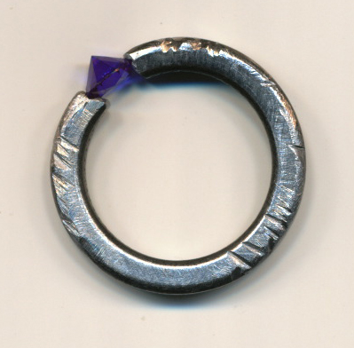 steel washer -and-semi-precious-stone-by-Majella-Beck 2013