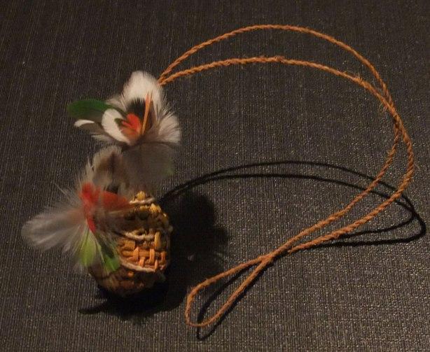 feather-pendant by Mavis Ganambarr