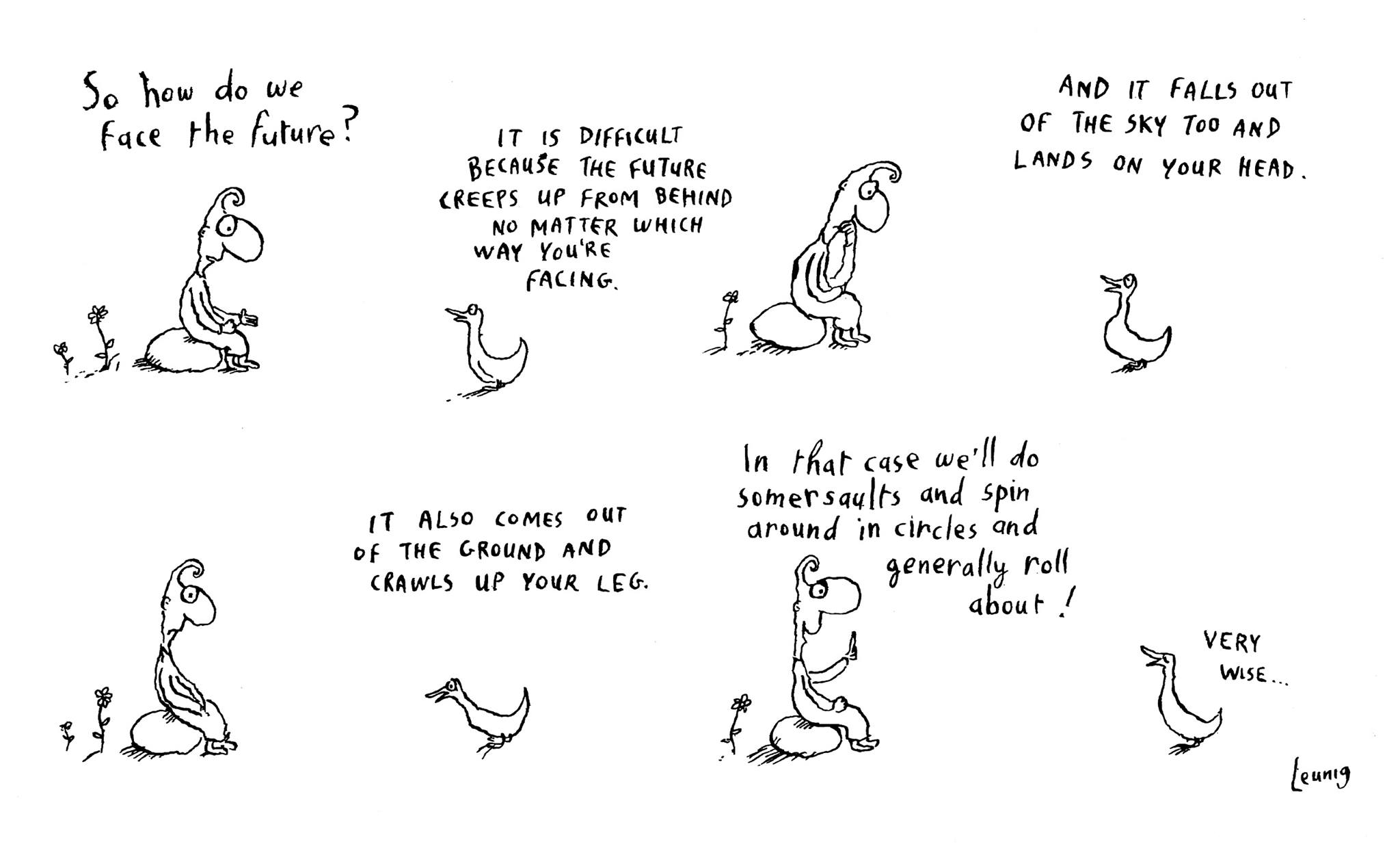 How To Face The Future By Michael Leunig It S Crow Time